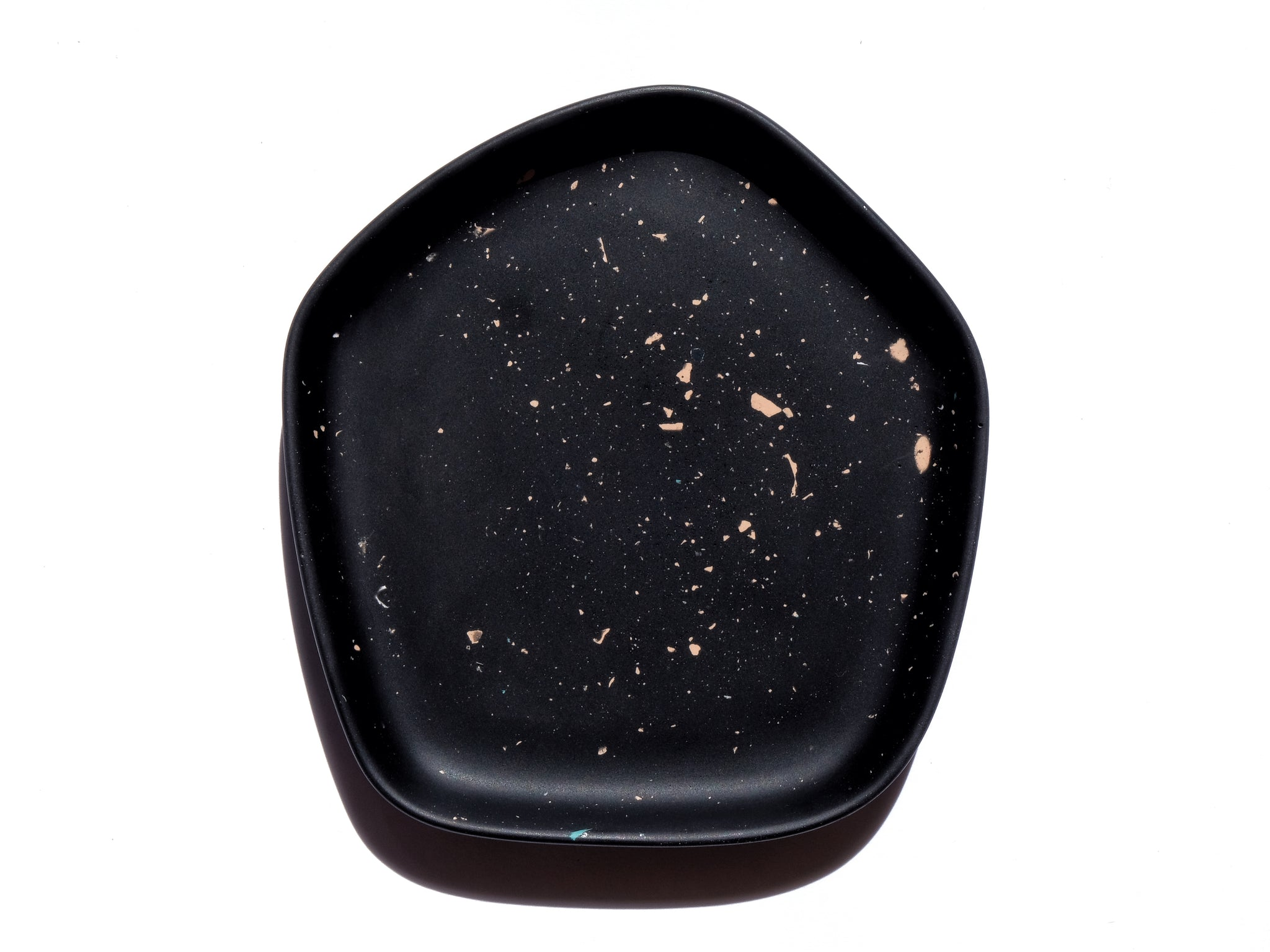 Black & Orange Night Sky Small Pentagon Dish