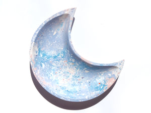 "Pastel Blue-Purple ""Kintsugi"" Crescent Moon Bowl"