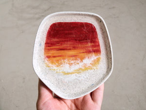 Paint the Sea: Sunrise in Paris / Sunset V2 on Granite: Small Pentagon Trinket Dish #2