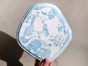 Pale Blue River Large Pentagon Tray
