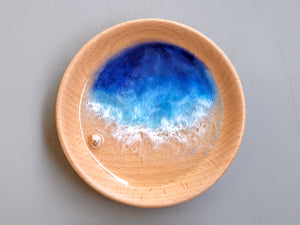 Malibu Seascape Beech Wood Trinket Tray #1