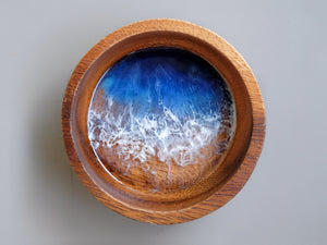 Malibu Seascape Small Wooden Bowl: Dark #2