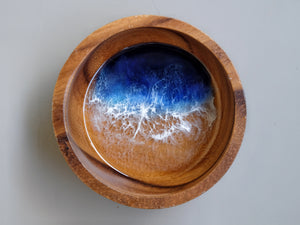 Malibu Seascape Small Wooden Bowl: Dark #4