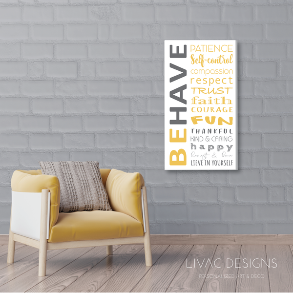 BeHave- Art in Canvas