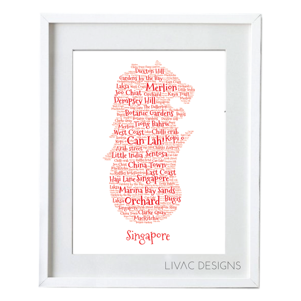 Merlion Personalized Word Art