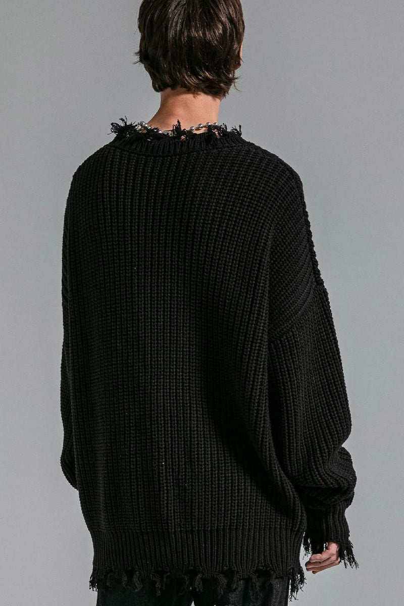 QUESTION TORN SWEATER