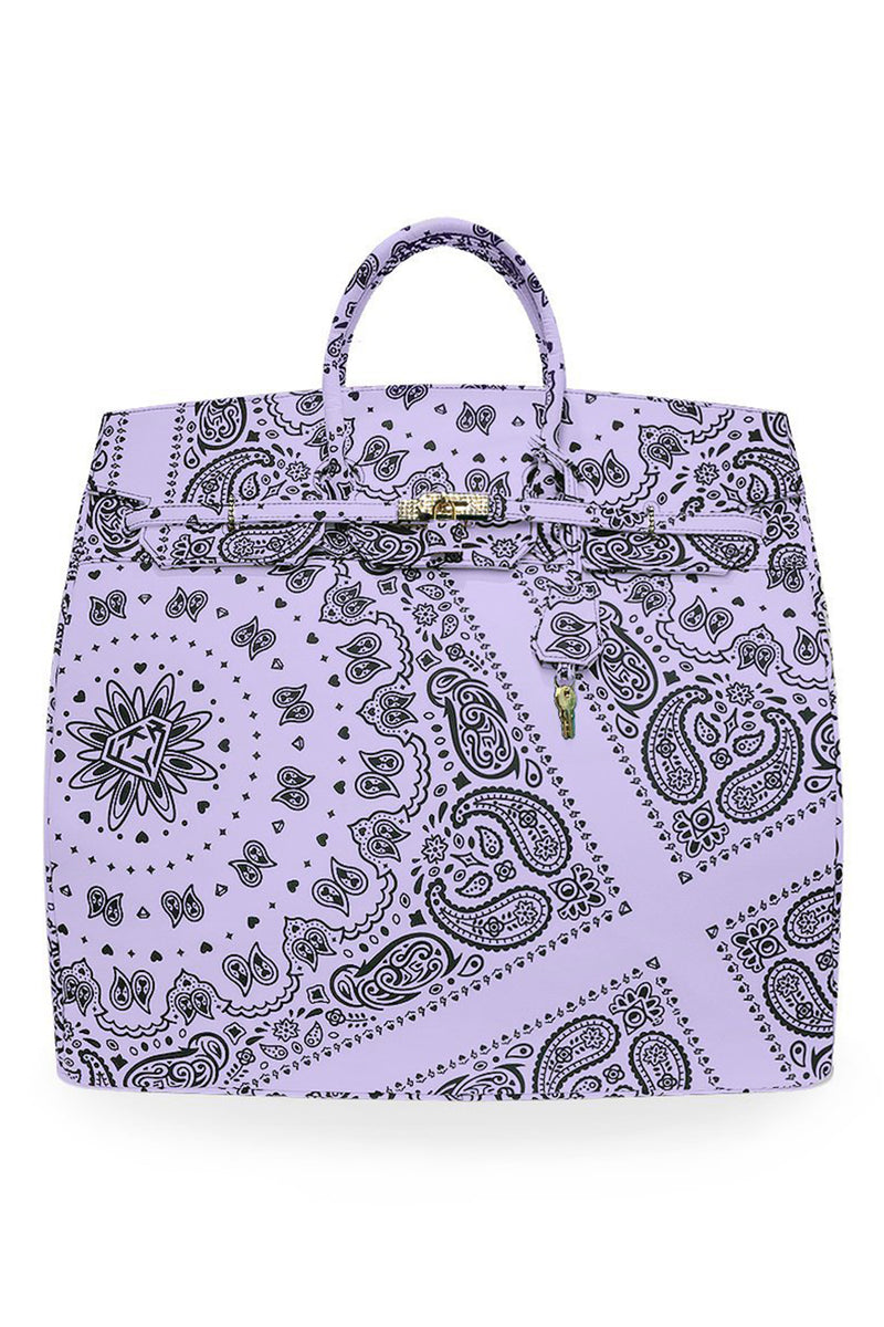 PAISLEY TRAVEL BAG / PURPLE