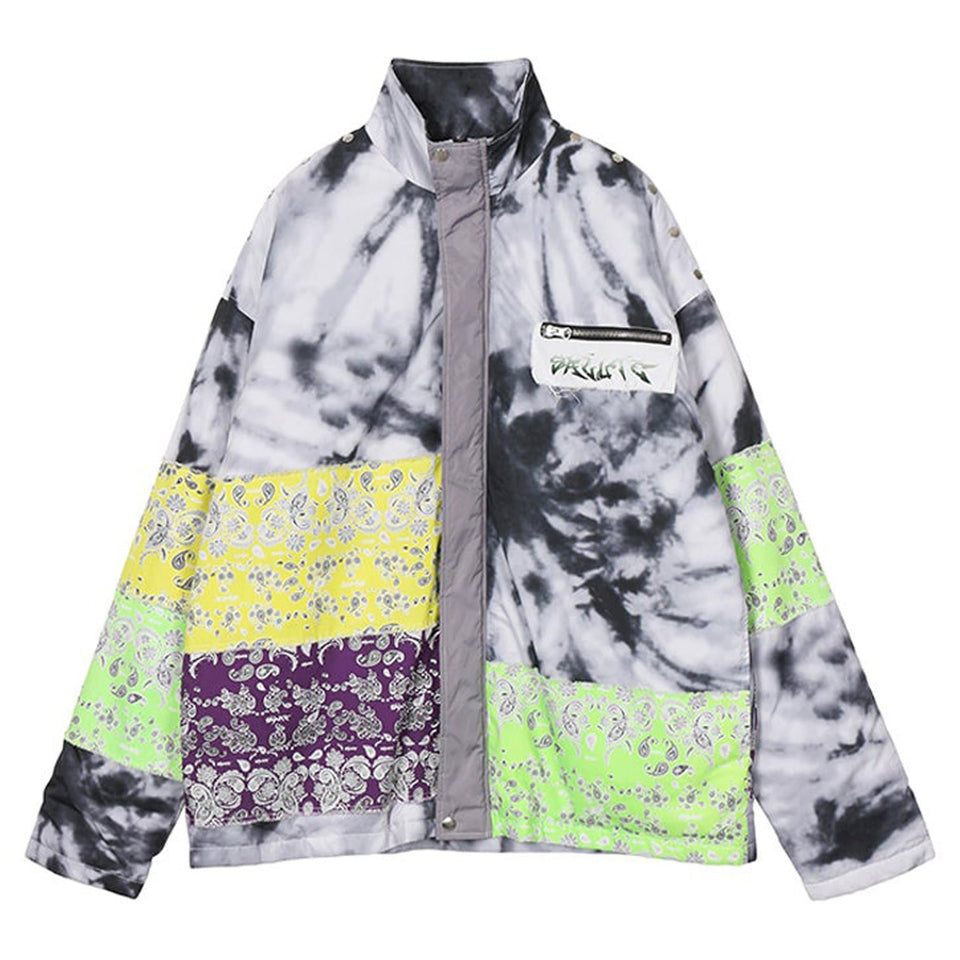 Bandanna Tie Dyed Down Jacket