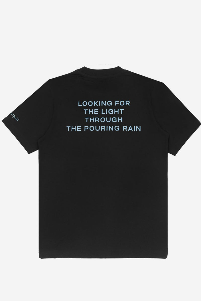 Wasted x Kevin Cummins T-shirt Pouring Rain Black