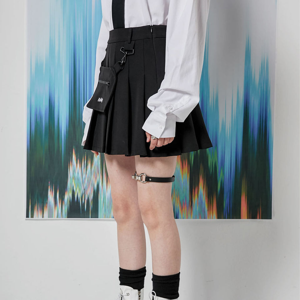 LOGO PLEATS SKIRT