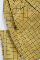 YELLOW PLAID CORDUROY JACKET