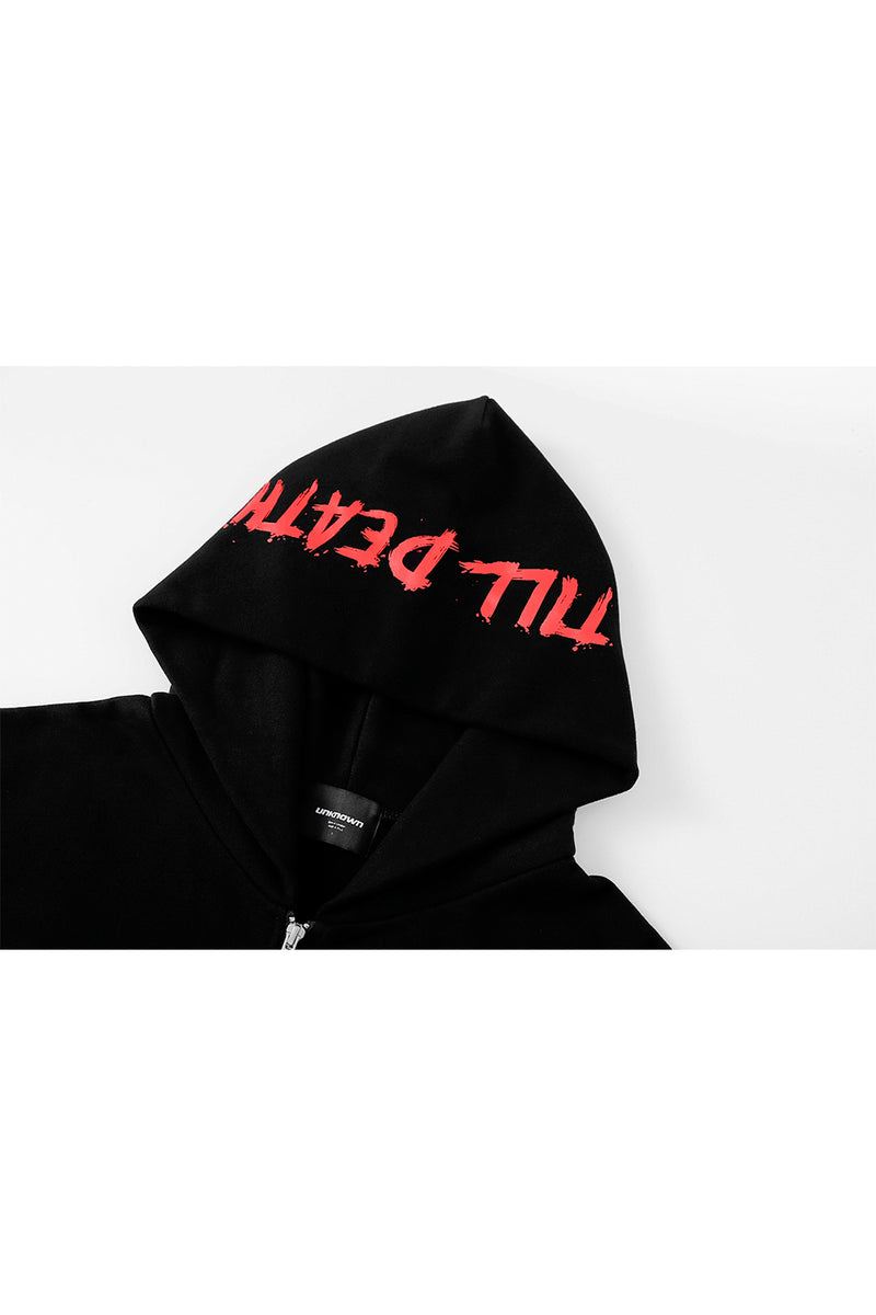 TILL DEATH RHINESTONE ZIP UP