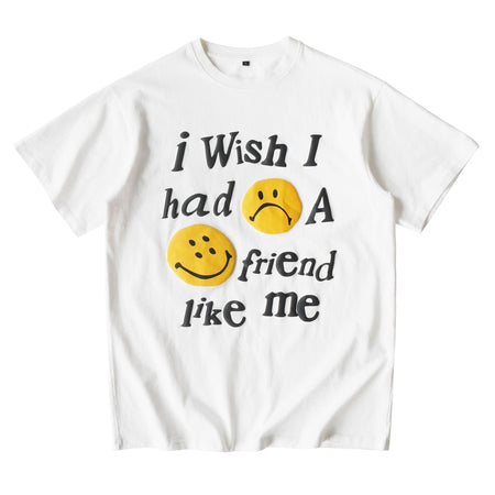 Foam Smile Face Print Short Sleeve