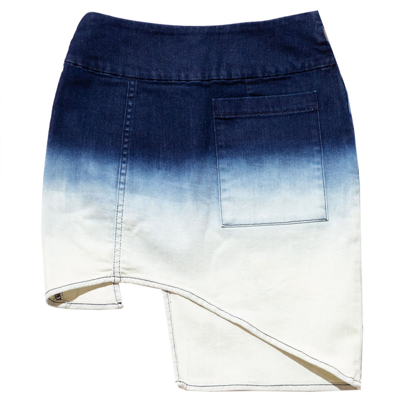 GRADIENT DENIM SKIRT