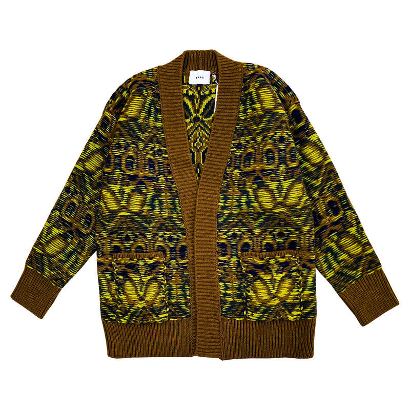 BONSAI(ボンサイ)-Oversized jacquard cardigan-SUPPLIER(サプライヤー)