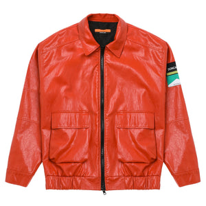 Red Short Leather Jacket