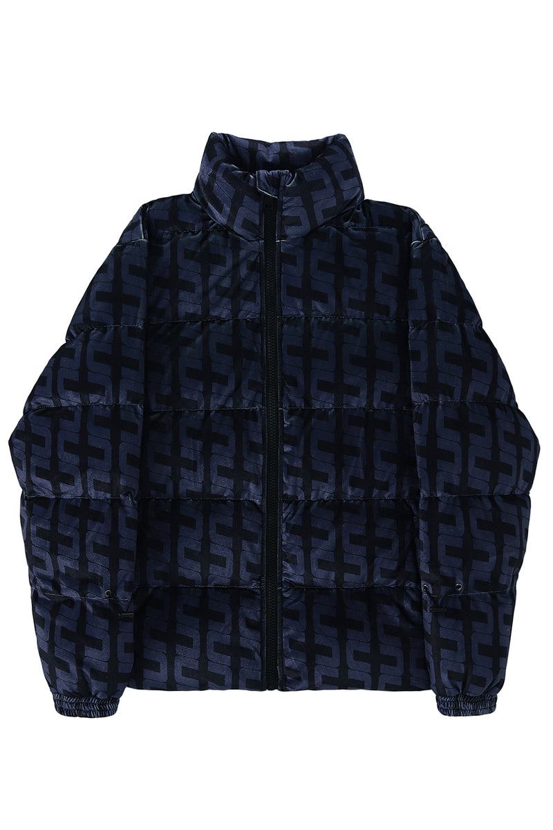 DOWN FILLED VELOUR PUFFER
