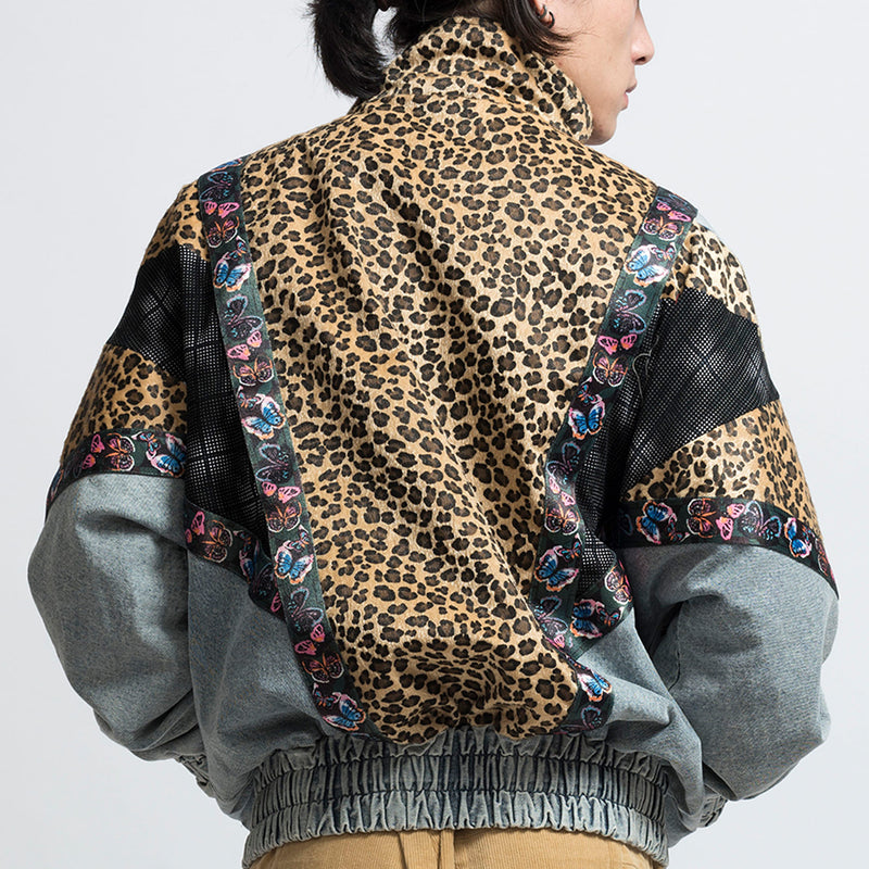 EPIC POETRY(エピックポエトリー)-Denim Patch Leopard Jacket-SUPPLIER(サプライヤー)
