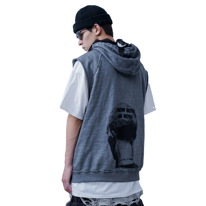 DIRTY WASH HOODED VEST