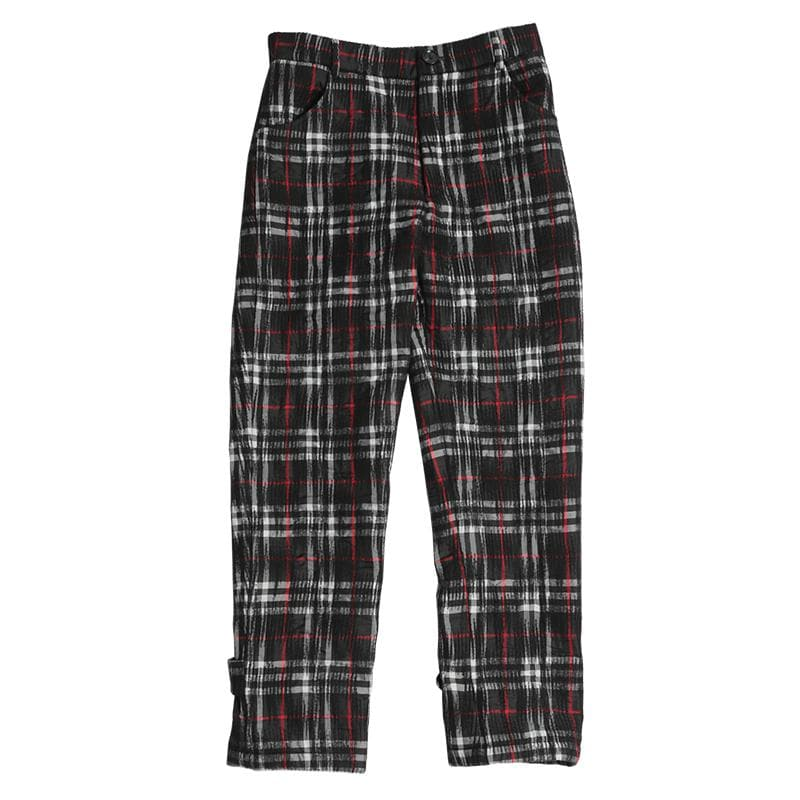 EPIC POETRY(エピックポエトリー)-Grid Straight Slim Trousers-SUPPLIER(サプライヤー)