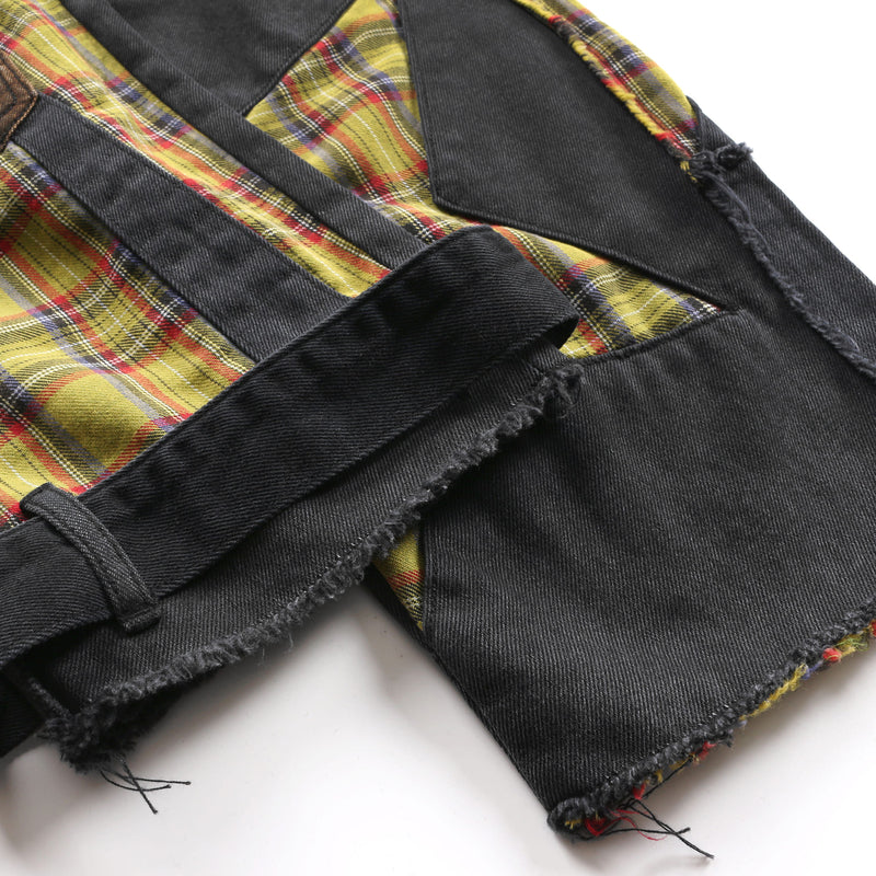 LOOSE WASHED STITCHING JEANS