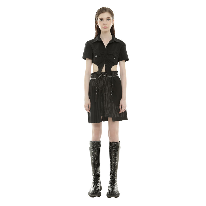 PLEATED SKIRT WITH CHAIN