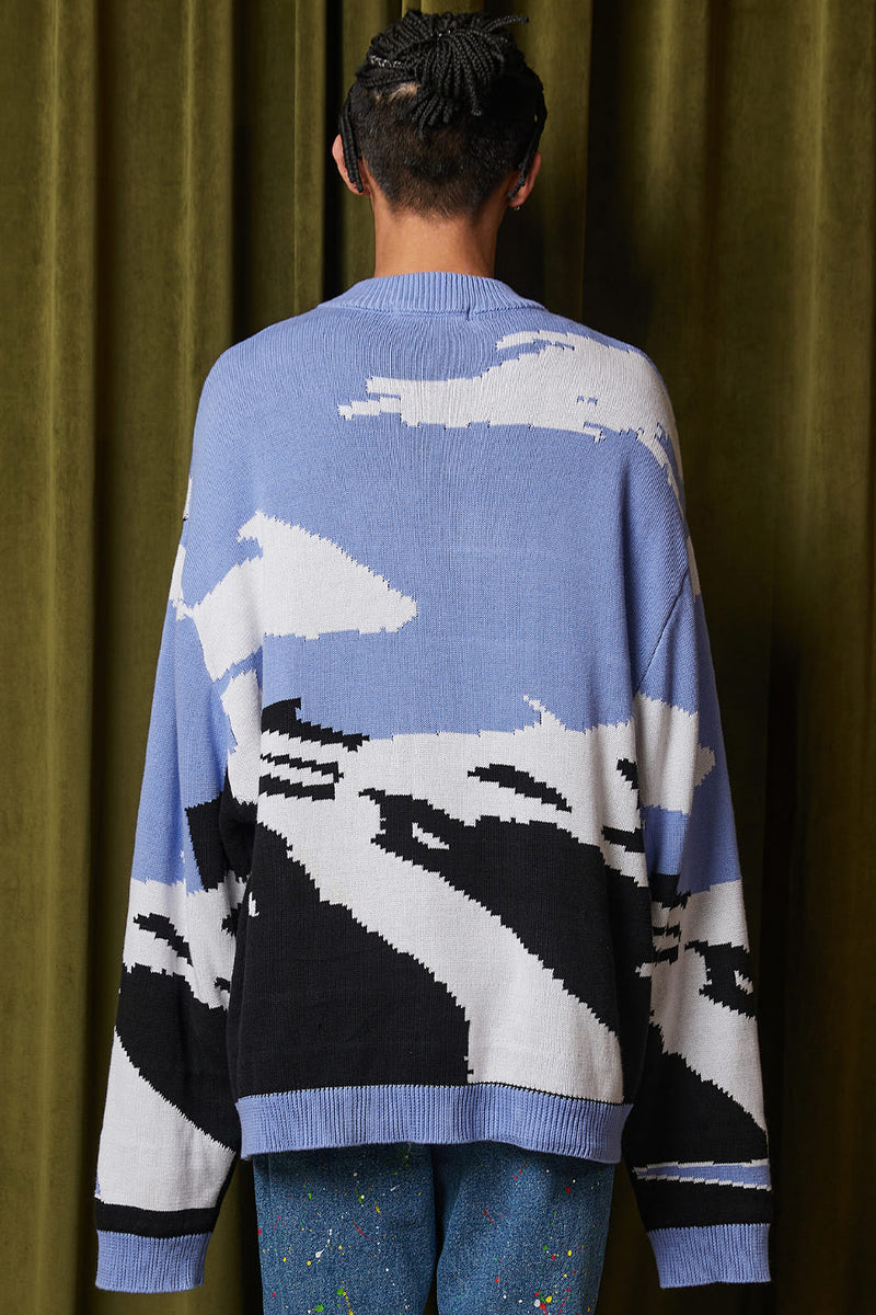 CARTOON PRINTER SWEATER