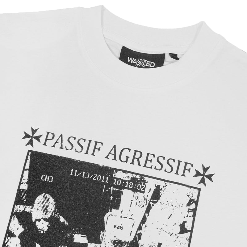 T-shirt LS Passif Agressif White