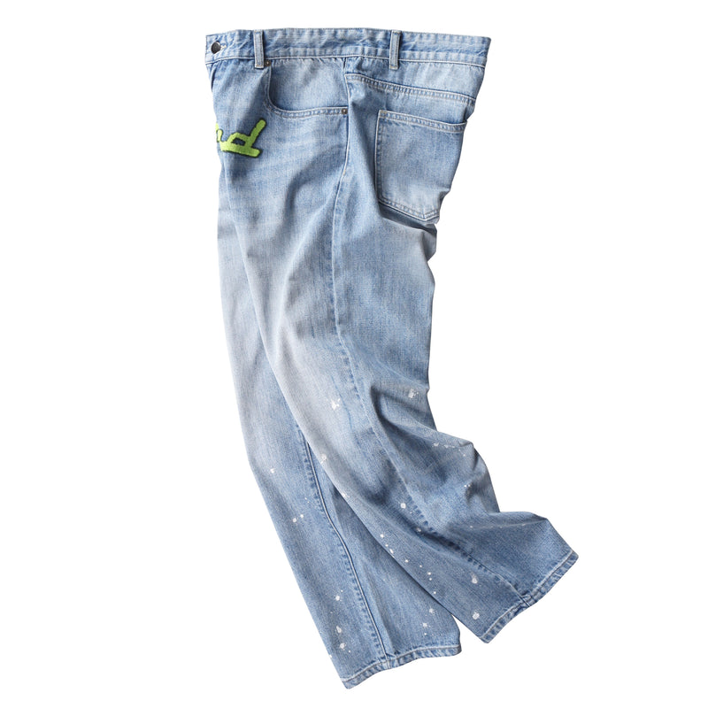 WASHED LOOSE STRAIGHT JEANS