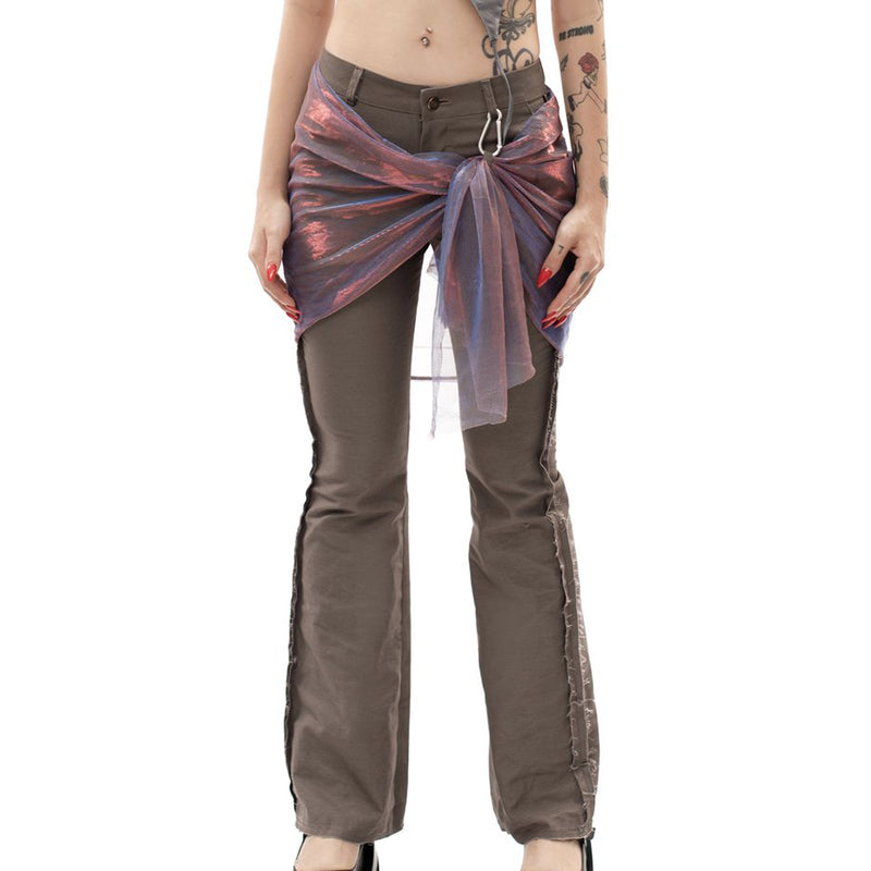 Wrapped Bootleg Pants