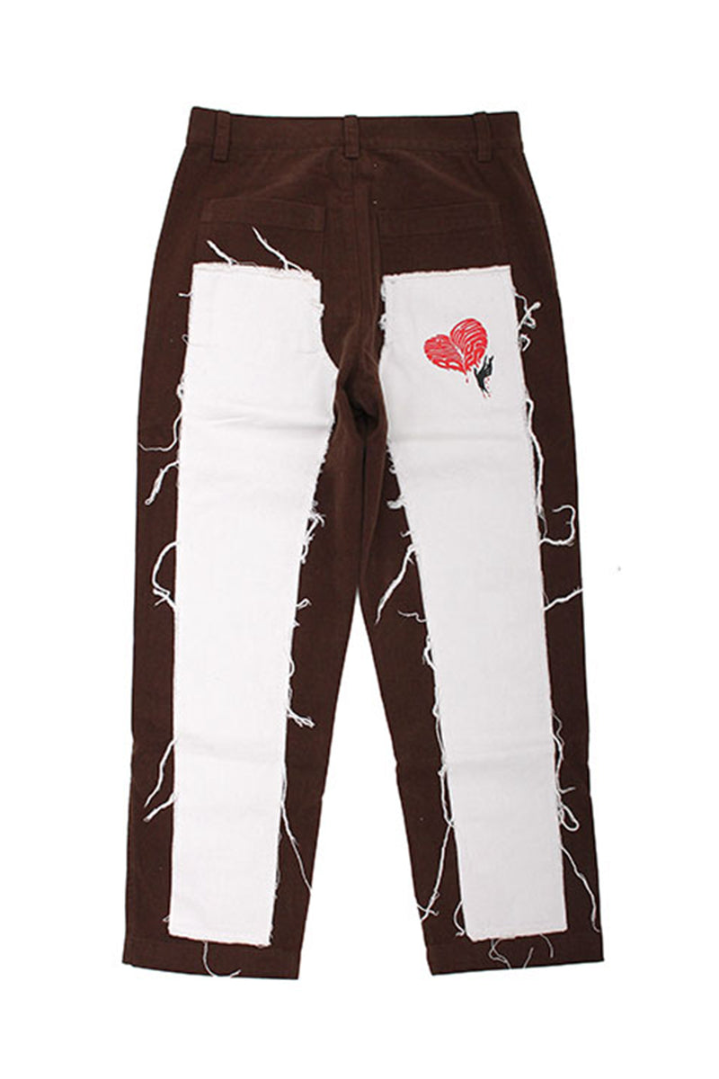 TWO LAYERS HEART JEANS