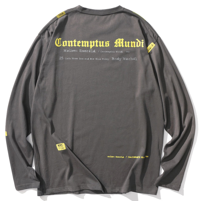 MAISON EMERALD(メゾンエメラルド)-A.C.A.B LABEL TWO COLOR LONG SLEEVED TEE-SUPPLIER(サプライヤー)
