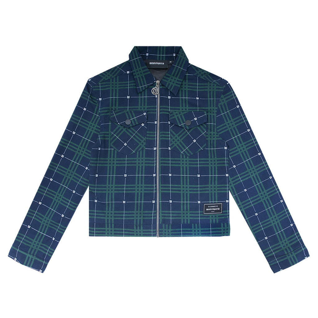 Tartan Zipper Jacket Blue/Green