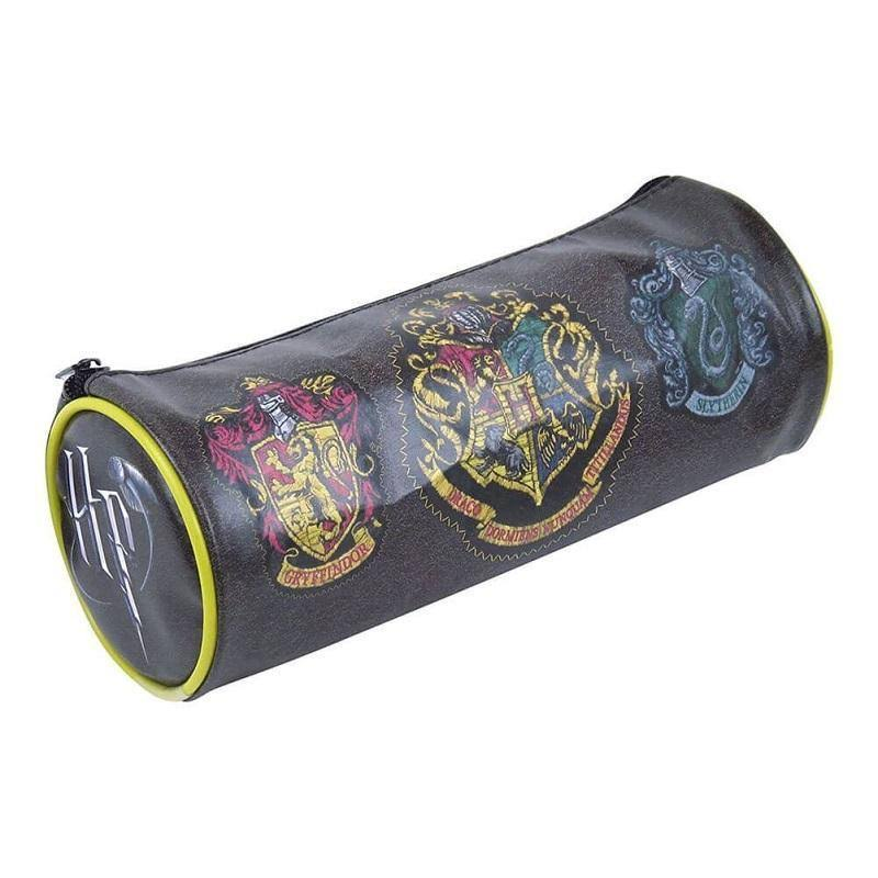 Hogwarts Crests Barrel Pencil Case-The Curious Emporium