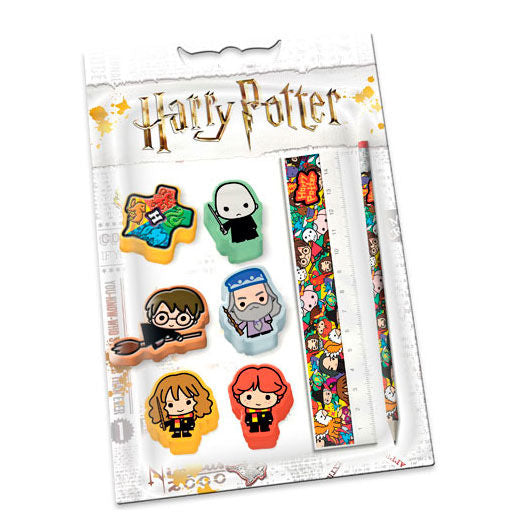 Chibi Stationery Set - Erasers Ruler Pencil-The Curious Emporium
