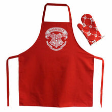 Load image into Gallery viewer, Hogwarts Crest Apron with Oven Mitt/Glove-The Curious Emporium
