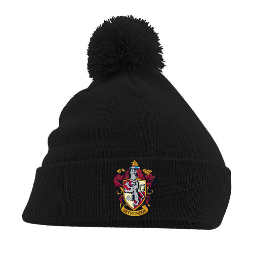 Harry Potter Pom-Pom Black Beanie Gryffindor-The Curious Emporium