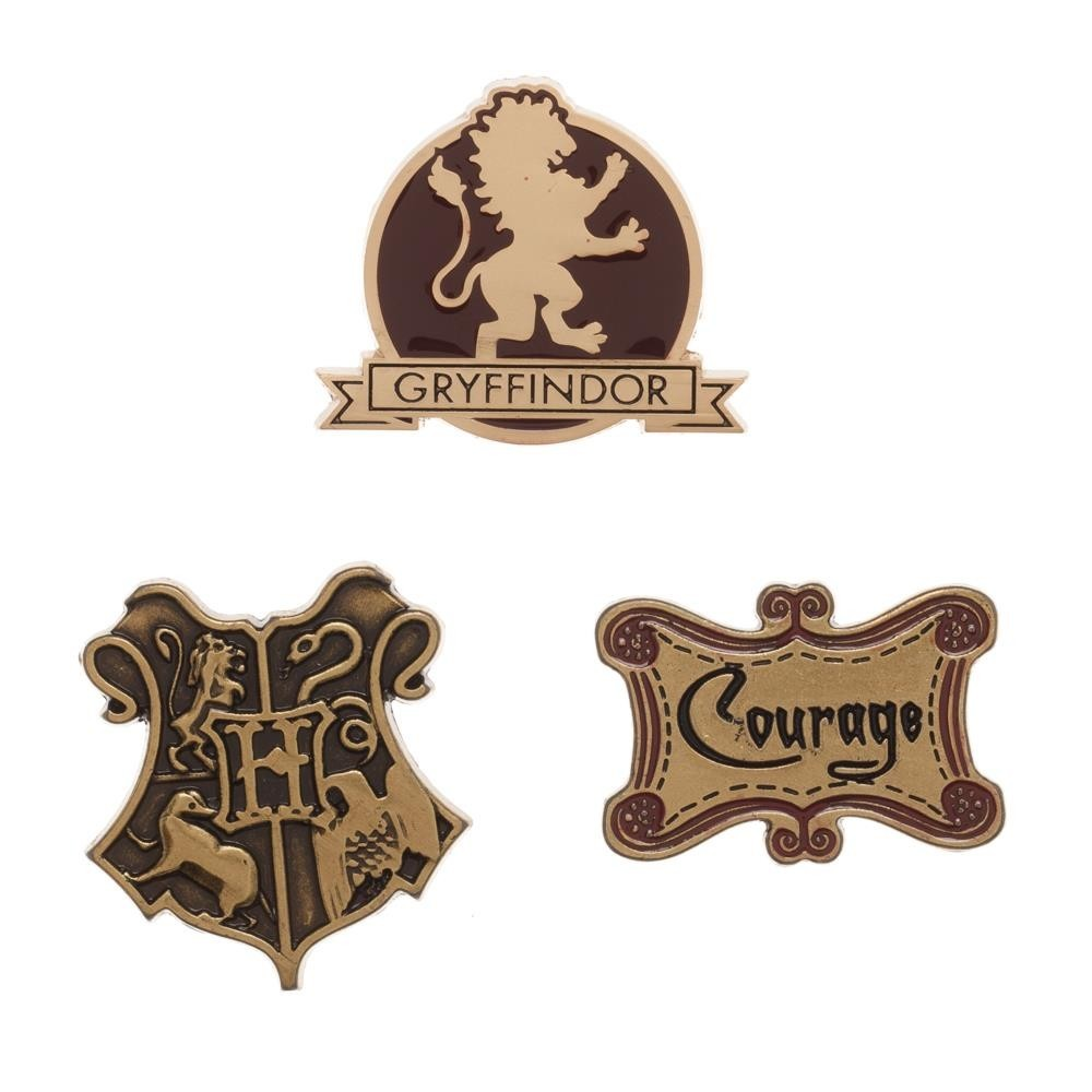 Gryffindor Lapel Pin Set 3-Pack-The Curious Emporium