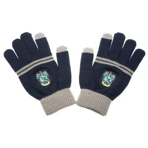 Ravenclaw E-Touch Knitted Acrylic Gloves-The Curious Emporium