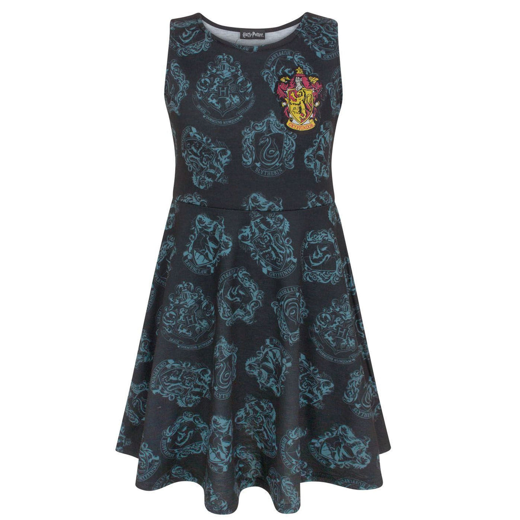 Hogwarts Gryffindor Crest Girl's Skater Dress-The Curious Emporium