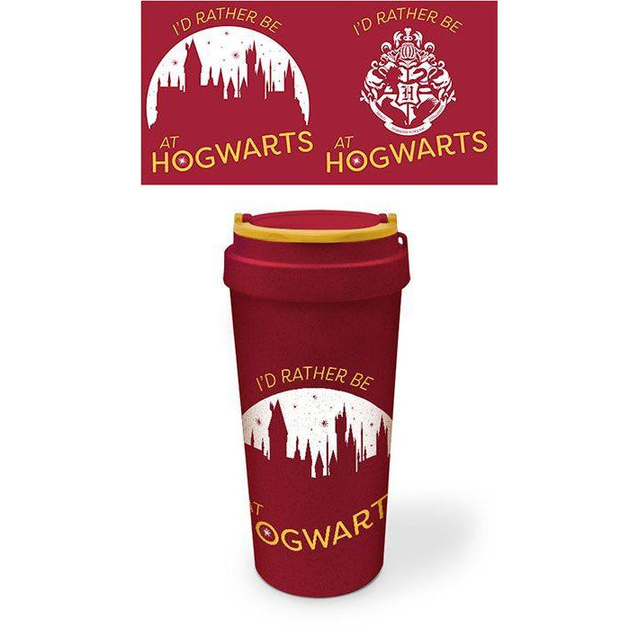 Eco Travel Mug: Rather be at Hogwarts-The Curious Emporium