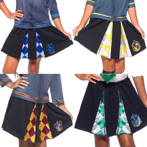 Hogwarts House Girl's Crest Skirts-The Curious Emporium