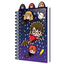 Load image into Gallery viewer, Light Up Notebook with Dividers A5 Chibi Characters-The Curious Emporium
