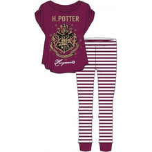 Load image into Gallery viewer, Ladies Harry Potter Hogwarts Pyjamas-The Curious Emporium