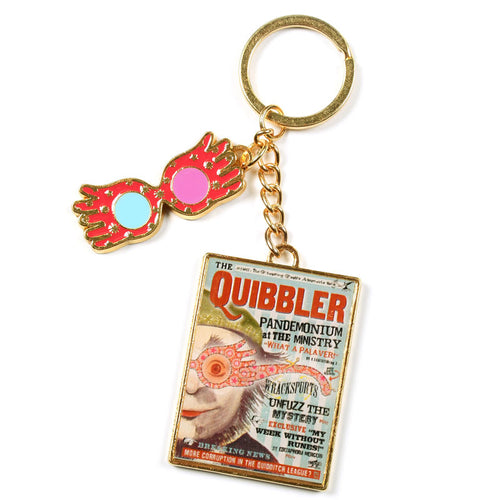 The Quibbler Magazine Metal Keychain-The Curious Emporium