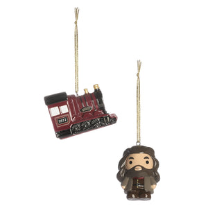 Hagrid and Hogwarts Express Christmas Decorations-The Curious Emporium