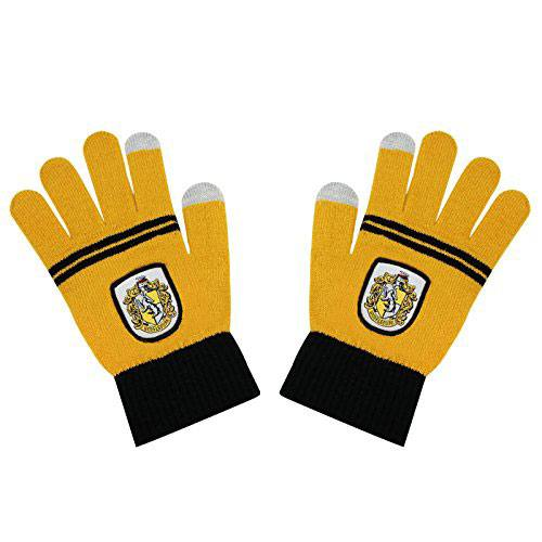 Hufflepuff College Knitted Acrylic Gloves-The Curious Emporium