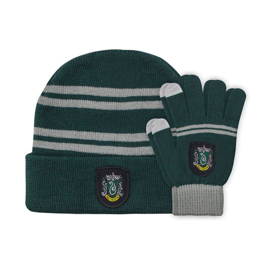 Beanie & Gloves Set for Kids Slytherin-The Curious Emporium