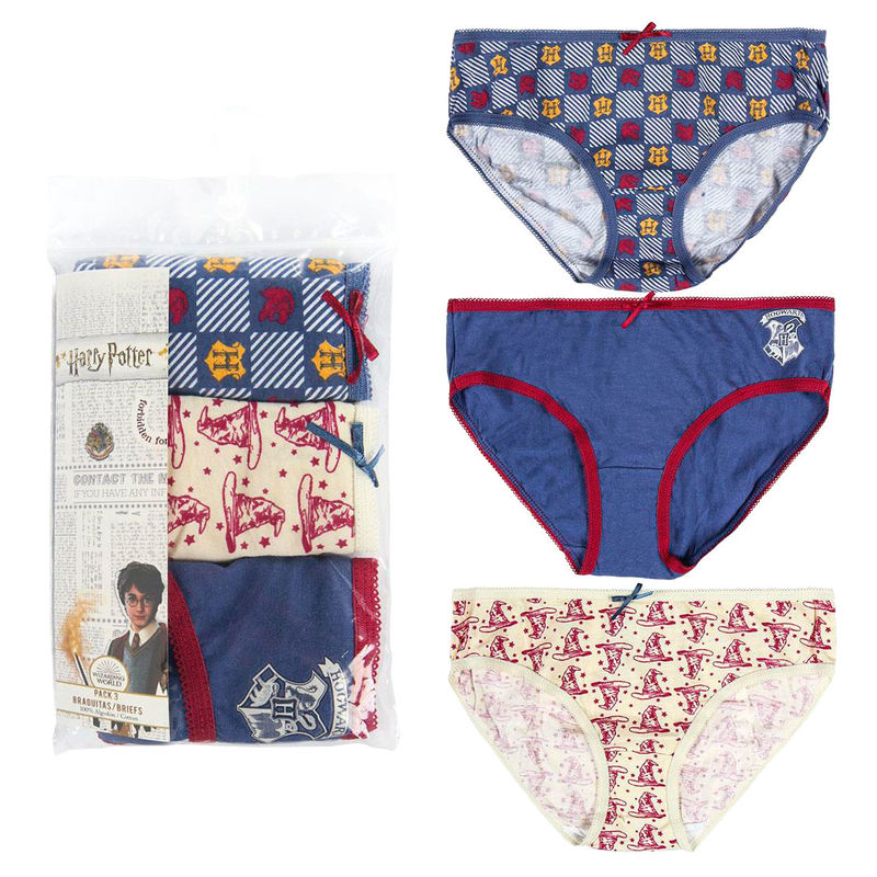 Girls Harry Potter Underwear Knickers - Pack of 3 Pants-The Curious Emporium