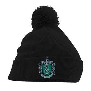 Harry Potter Pom-Pom Black Beanie Slytherin – The Curious Emporium fa658ad7dca